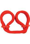 Japanese Rope Wrist Cuffs Red