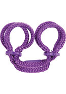 Japanese Love Ankle Cuffs Purple