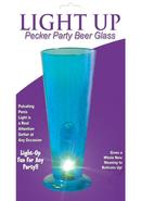 Party Pecker Light Up Beer Glass Blue