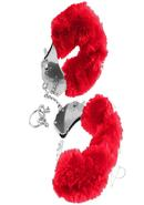Ff Furry Cuffs Red