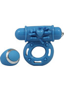 Macho Pulsating Remote Control Ring Blue