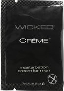 Wicked Creme Masturbation Foil Pk 144bag