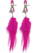 Ff Fancy Feather Nipple Clamps Pink