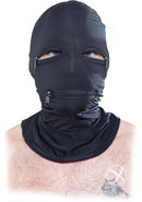 Ff Black Zipper Face Hood