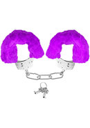 Neon Furry Cuffs Purple