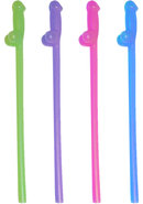 Glow In The Dark Naughty Straws