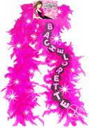 Flashing Bachelorette Pink Boa (disc)