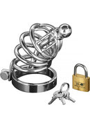 Ms Asylum 4 Ring Locking Chastity Cage