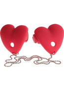 Ff Vibrating Heart Pasties Red
