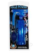 Male Power Pump W/grip-blue