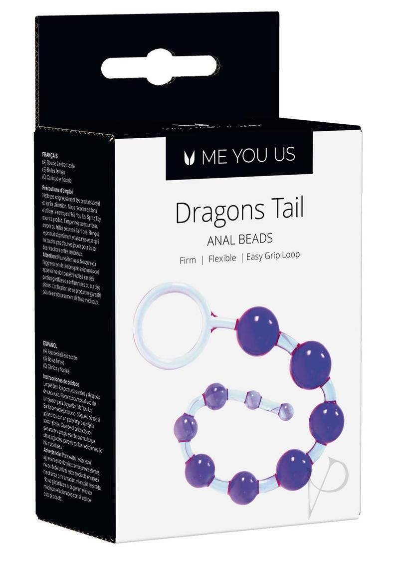 Kinx Dragons Tail Anal Beads Violet Os
